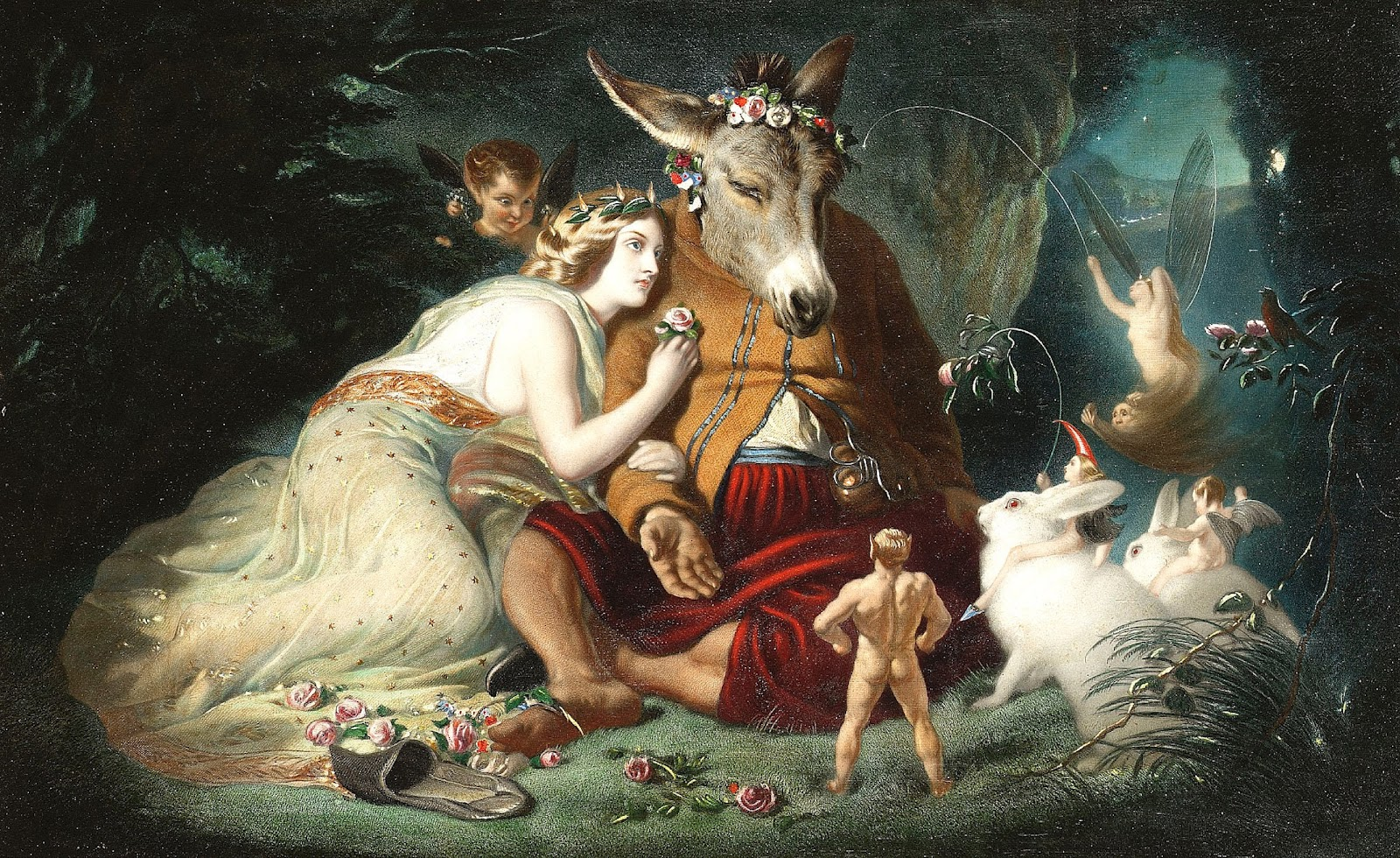 Sir Edwin Landseer - Scene From A Midsummer Night's Dream, Titania and Bottom