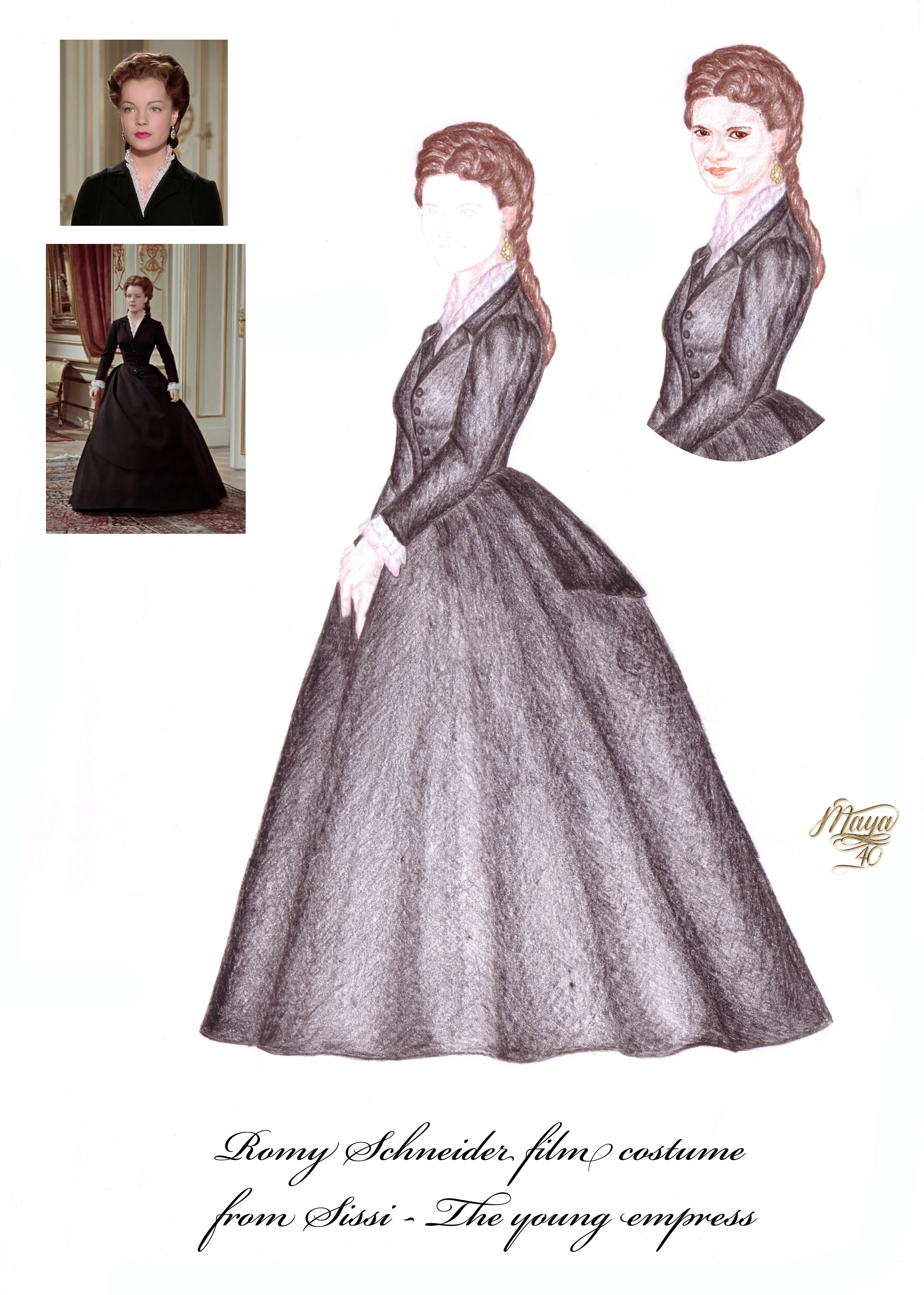Romy fekete ruhakész